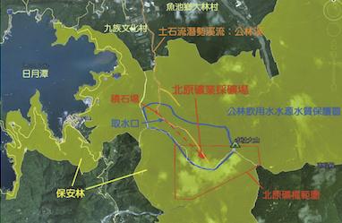 圖三:北原石礦於保護區違法開挖