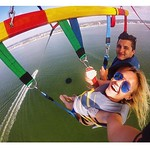 Amazing views from the Smiley Face parasail.