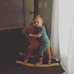 In the morning, I like to ride my giraffe to school. by bartlekid