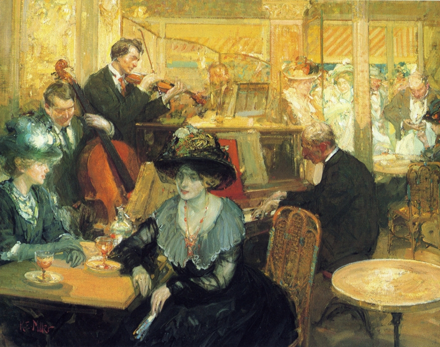 Cafe de la Paix by Richard Edward Miller - circa 1905