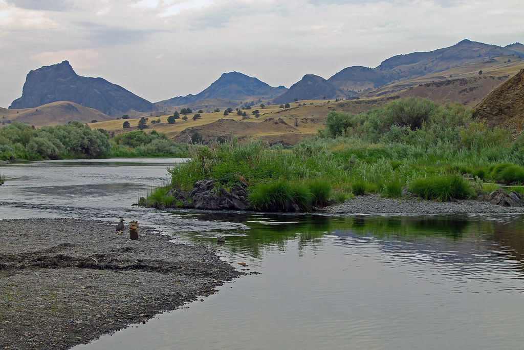 Priest Hole Recreation Site on the John Day River