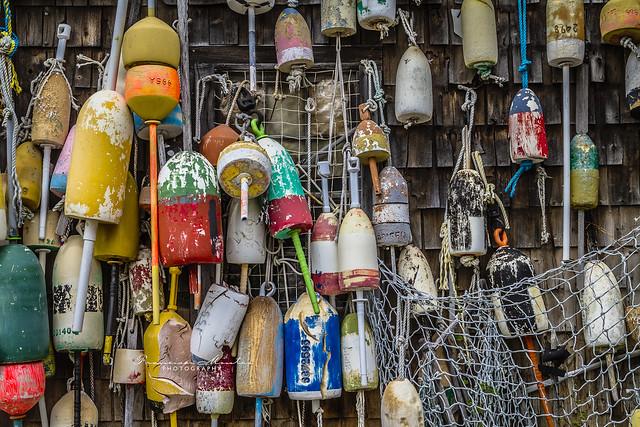 Lobster trap buoys