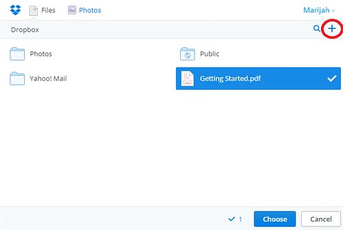 yahoo mail dropbox