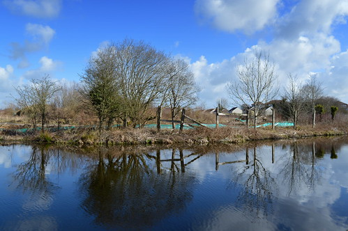 county uk trees wild england sky reflection nature wet water clouds outside canal stream tour open place northwest north visit location tesco lancashire area preston northern update attraction develop lancs cottam ©2015tonyworrall