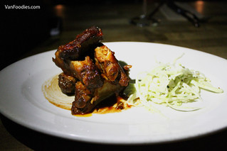Slow braised pork ribs, coleslaw