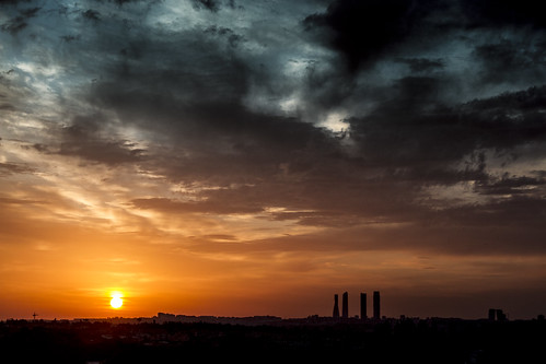 madrid travel sunset sky silhouette architecture