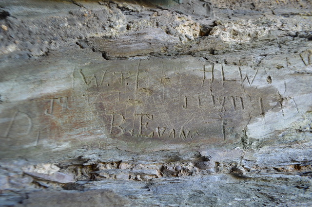 Cilgerran Castle graffiti