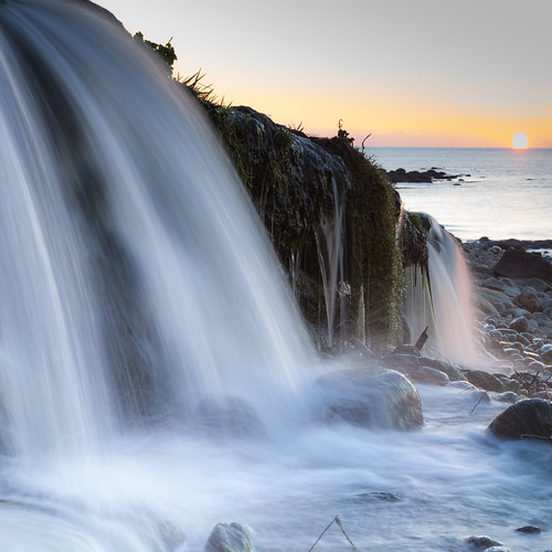 cold sunrise waterfall fresh dorset osmington canon5dmkii canon2470f28liiusm
