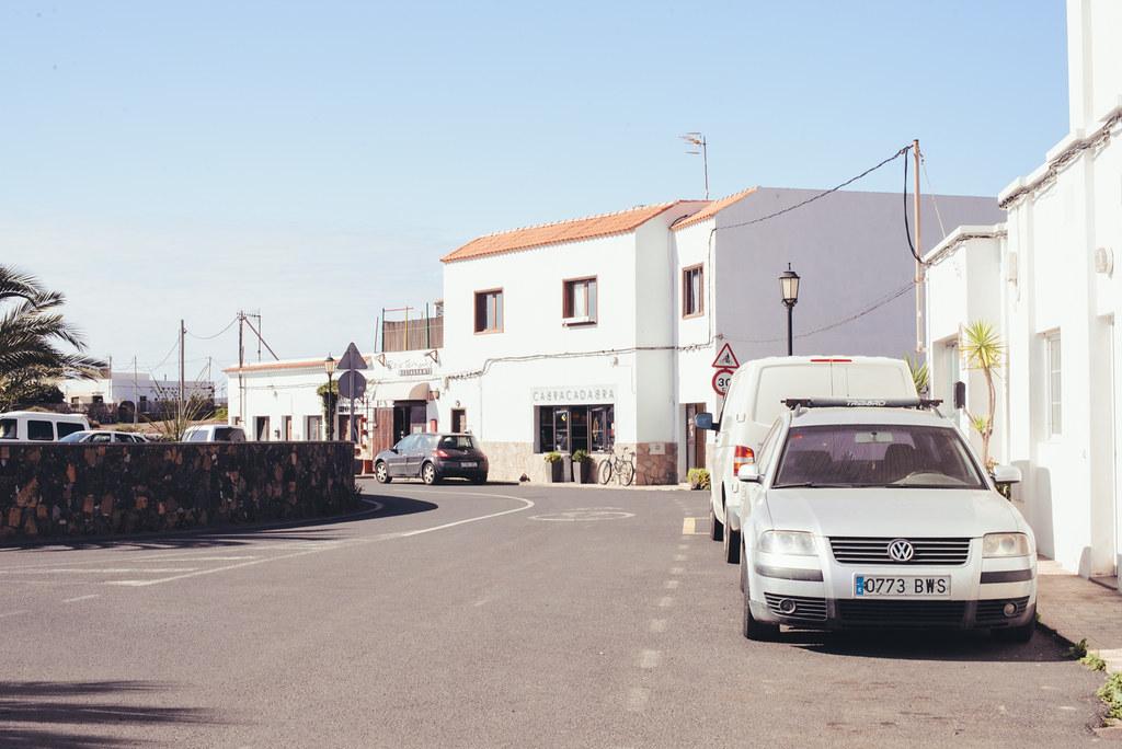 street in Lajares, Fuerteventura