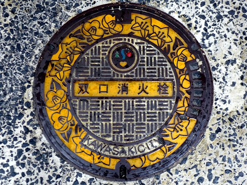 Kawasaki Kanagawa, manhole cover 2 (神奈川県川崎市のマンホール2)
