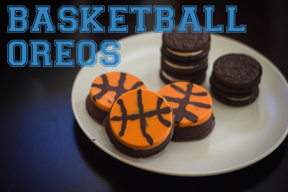 chocolate covered basketball oreo cookies
