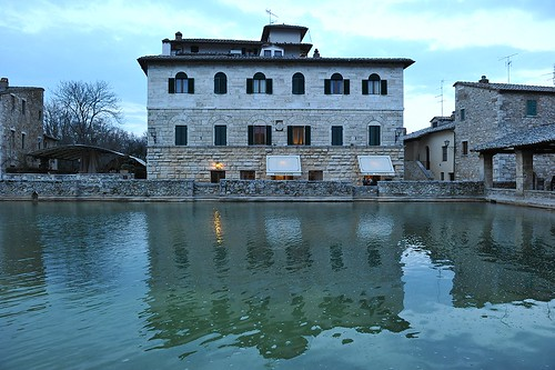 Thermal pool in the square, Bagno Vignoni, Tuscany, Italy  March, 2015 224