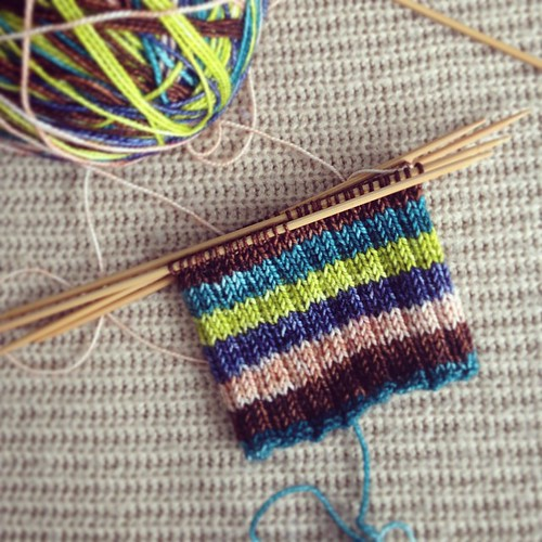 Vesper Sock Yarn. The colors make me so happy! What do you think this color way is called?