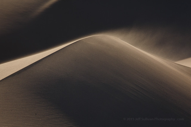 Windy Day on the Dunes in Death Valley