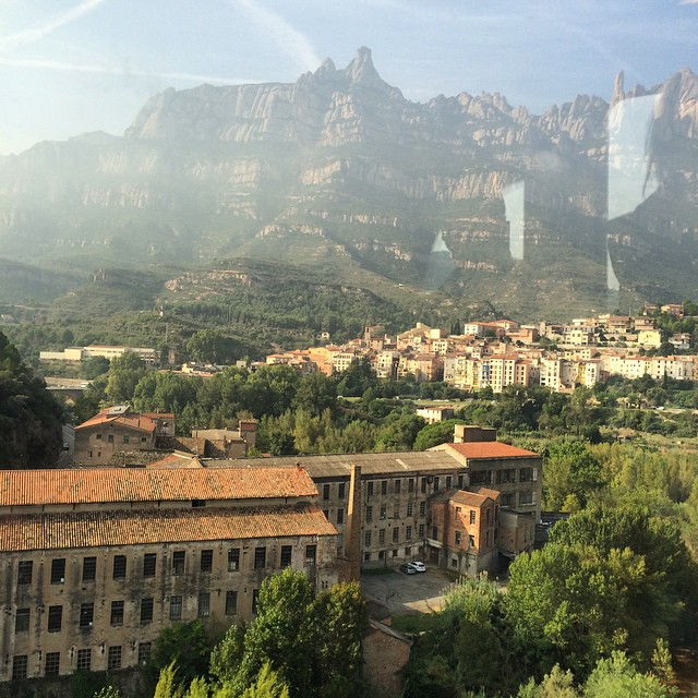 On the way up to Monsterrat. Lovely views from the train. #montserrat #spain #travel