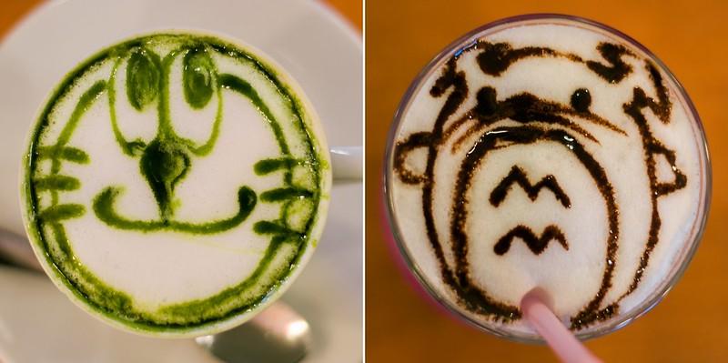 @Home Café Akihabara Totoro Sketched  Iced Mocha