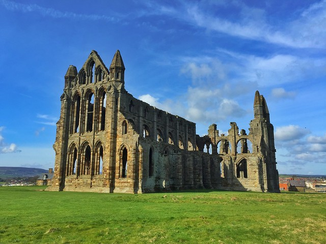 Abadía de Santa María en Whitby (Costa de Yorkshire, Inglaterra)