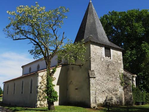 Eglise Saint Sauveur (XIIe), Le Temple, Landes du Médoc, Gironde, Aquitaine, France.