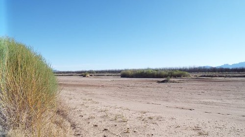 Rio Grande at point where waste water disappears