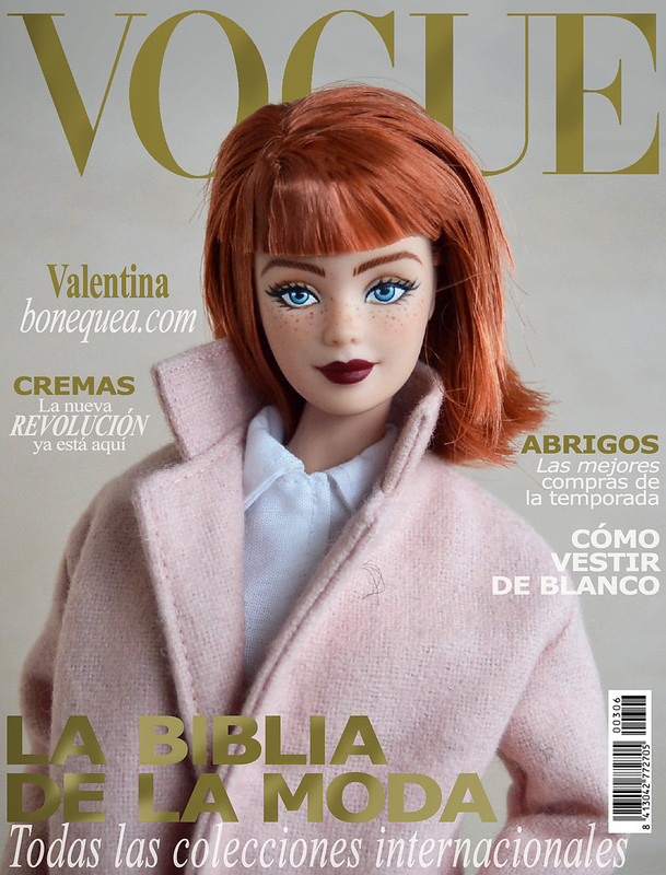 Vogue magazine: Ooak Barbie. Valentina