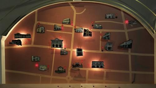 แผนที่แสดงพวกตึกเก่าสไตล์ชิโนโปรตุกีส