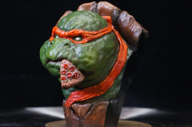 1/4 TMNT sculpté par Cyril Roquelaine 17127197850_92d81f1e9e_c