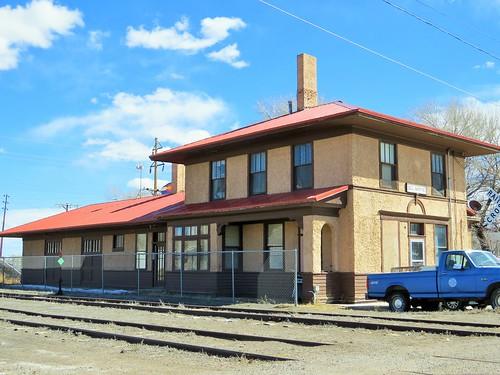 railroad station colorado sanluisvalley depot delnorte