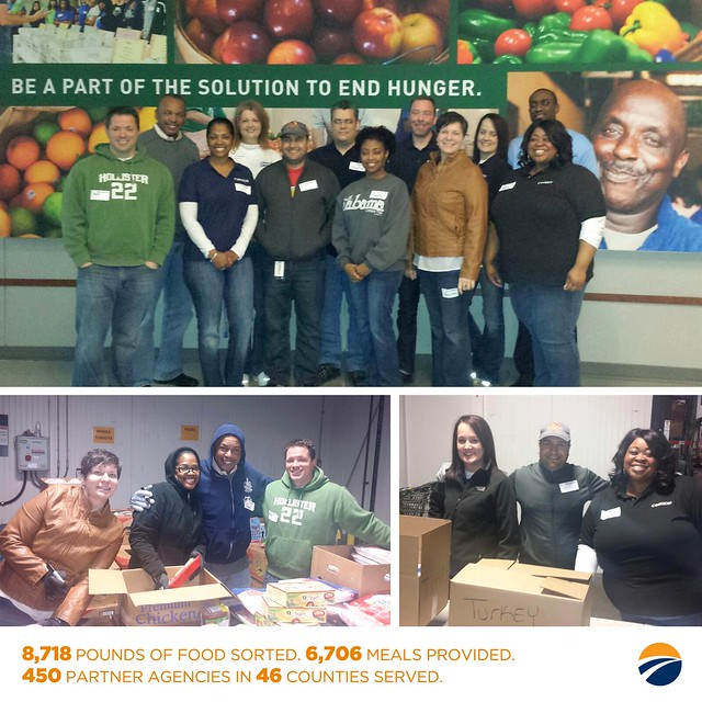 Team Members Serve the Community by Volunteering at Second Harvest