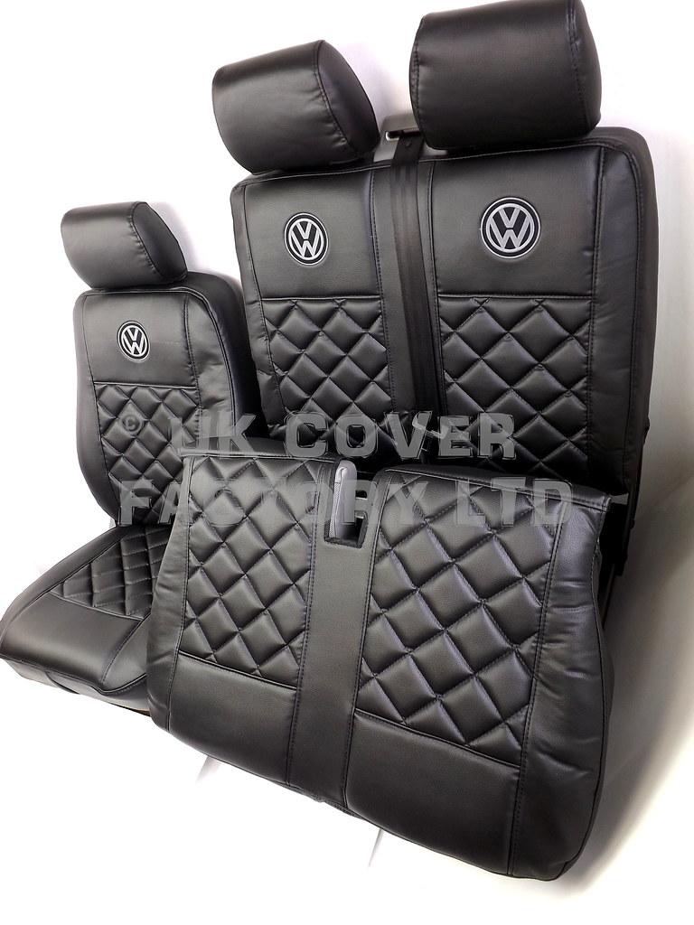 vw transporter t5 5 6 seater kombi van seat cover without vw logo a150a ebay. Black Bedroom Furniture Sets. Home Design Ideas