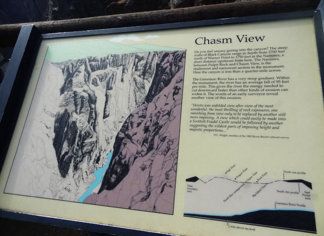 black canyon national park chasm-view