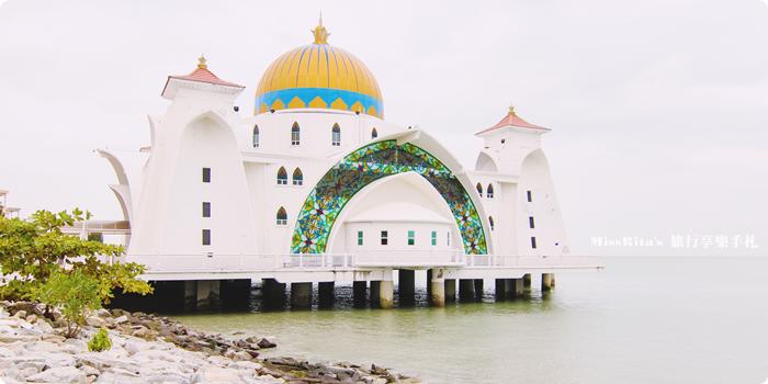 馬來西亞 麻六甲 馬六甲景點 Malacca Straits Mosque 清真寺 海上清真寺 Masjid Selat Melaka Pulau Melaka0-