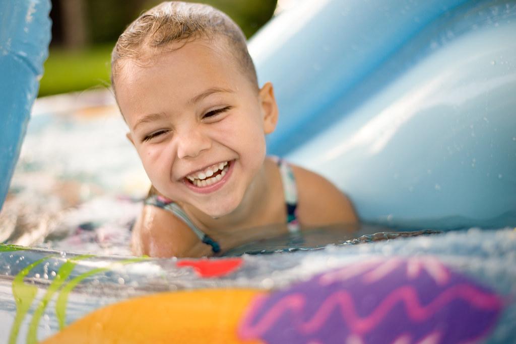 Reese Enjoying Her Pool