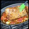 #PuertoRican #BBQ #Pork #KamadoJoe #Homemade #CucinaDelloZio - baste (2.5hrs in)
