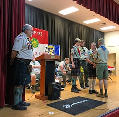 National Youth Leadership Training neckerchief presentation. #NFCNYLT #NYLT #YouthLeaders #Brownsea #northfloridascouts #nfcscouting