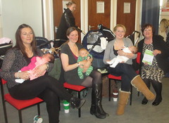 Chatting with new Mums at NCT Musselburgh drop-in session
