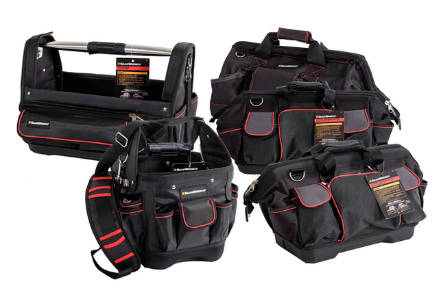 GrearWrench's latest tool bags come in a variety of shapes and sizes