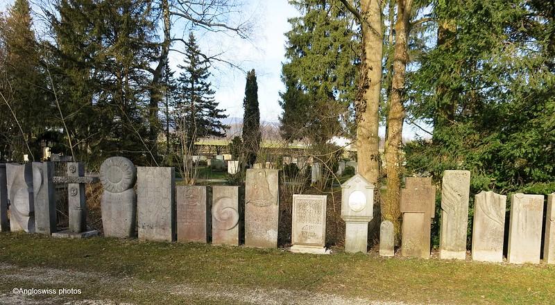 Old gravestones, St. Kathrinen Cemetery, Solothurn