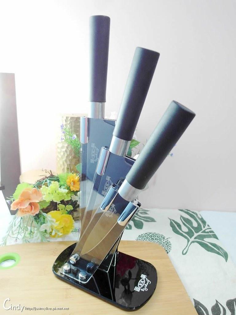 固鋼【Cuoco】義大利黑晶鑽不鏽鋼刀具豪華3件組 手工製造鋒利無比