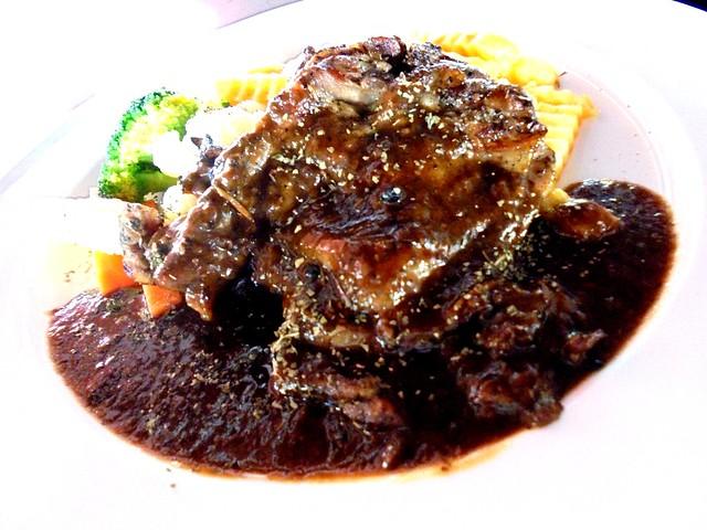 Chicken chop black pepper sauce