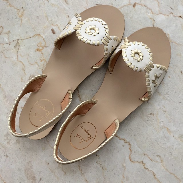 Jack Rogers Liliana in bone/gold