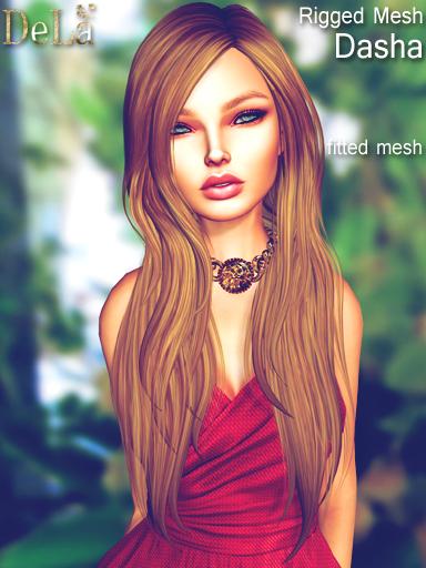 "=DeLa*= New Fitted Mesh Hair ""Dasha"""