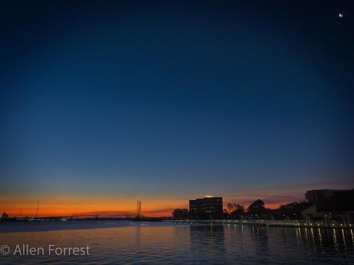 florida jacksonville bridge river unitedstates us bluehour