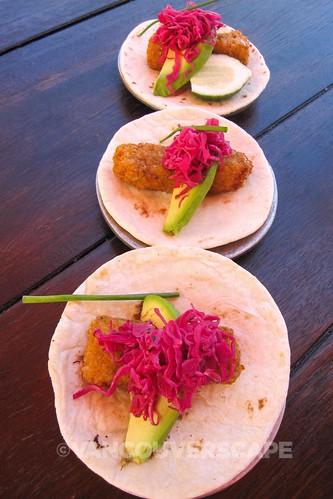 Distrito lunch: Plantain-crusted Mahi Mahi tacos