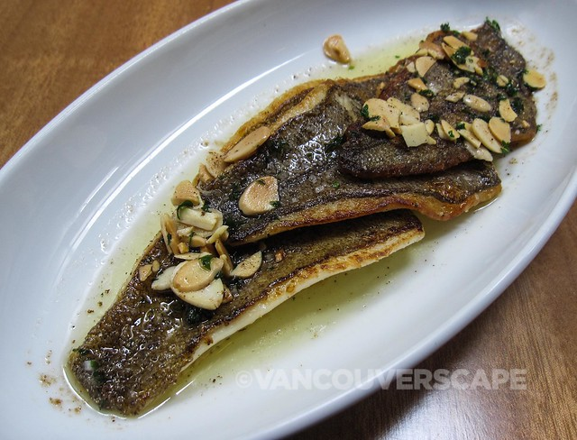 Bink's Scottsdale: Sand dabs, brown butter, almonds