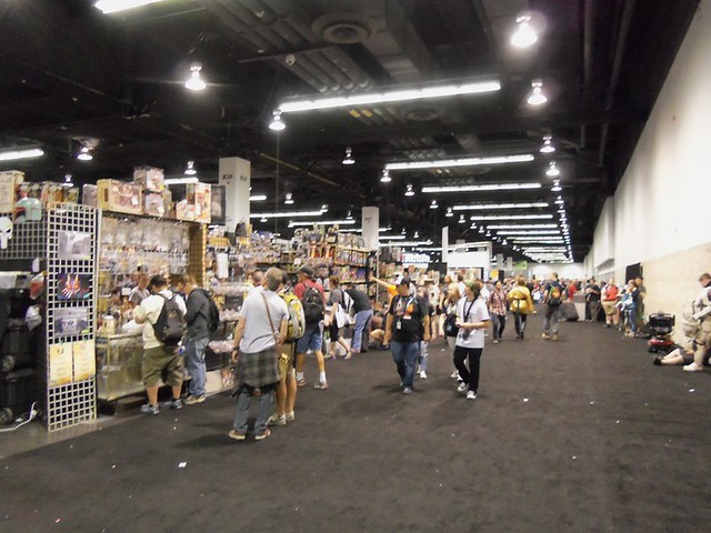Main drag at front of con floor
