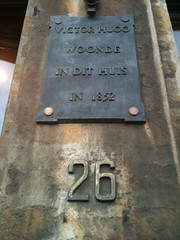 Photo of Victor Hugo bronze plaque