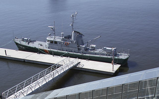 Telkkä museovenelaiturissa
