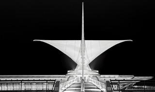 Milwaukee Art Museum @ Night  (1)