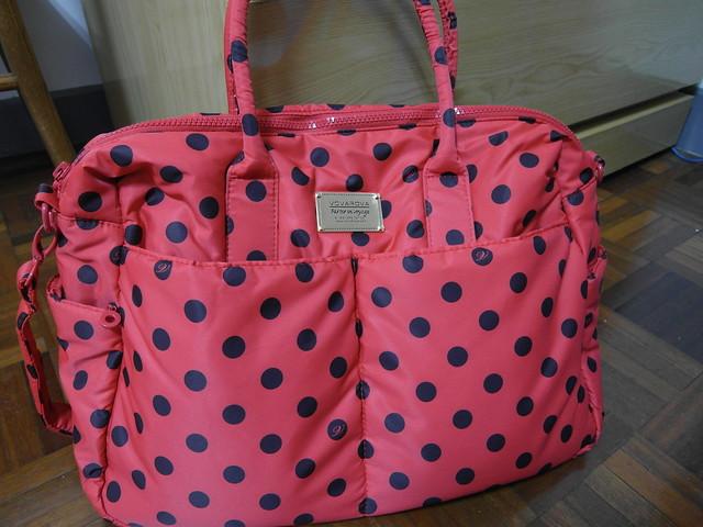 包包正面@VOVAROVA紅色點點圓舞曲波士頓包