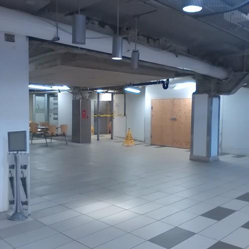 Food court under construction, Yonge Eglinton Centre